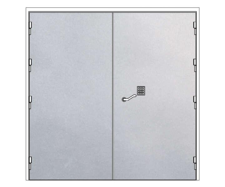 Strongroom-dörr-dubbel