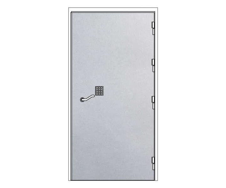 Strongroom-dörr-enkel
